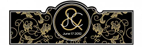 Wedding Cigar Band Template 35