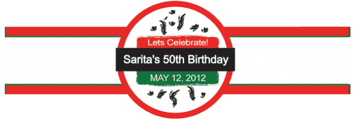 Birthday Cigar Band Template 04