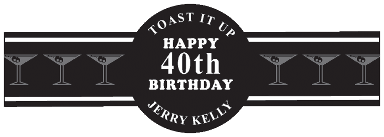 Birthday Cigar Band Template 08