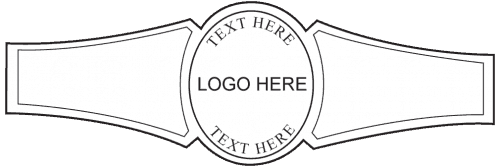 Custom Cigar Band Template 01