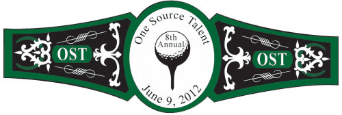 Golf Cigar Band Template 04