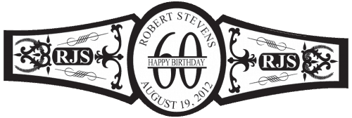 Birthday Cigar Band Template 10