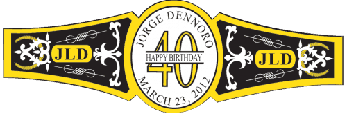 Birthday Cigar Band Template 11