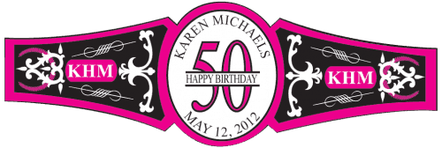 Birthday Cigar Band Template 12