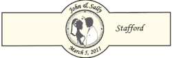 Wedding Cigar Band Template 13