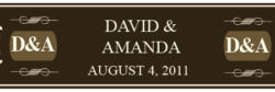 Wedding Cigar Band Template 16
