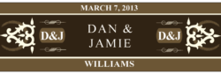 Wedding Cigar Band Template 17