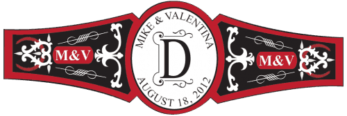 Wedding Cigar Band Template 18
