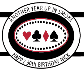 Birthday Cigar Band Template 17