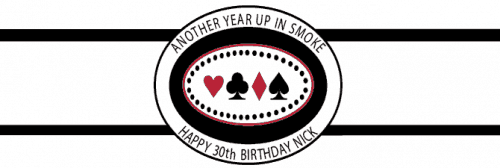 Birthday Cigar Band Template 17