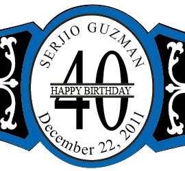 Birthday Cigar Band Template 18