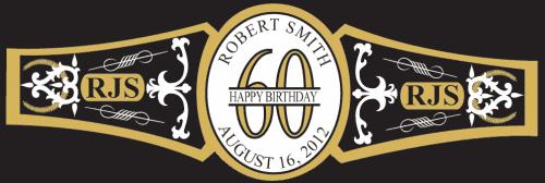 Birthday Cigar Band Template 24