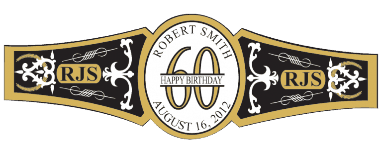 Birthday Cigar Band Template 24