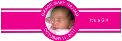 Baby Girl Cigar Band Template 10