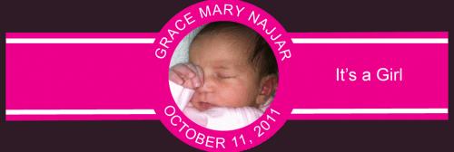 Baby Girl Cigar Band Template 10