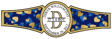 Boy Cigar Band Template 16