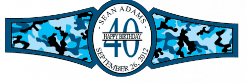 Birthday Cigar Band Template 27