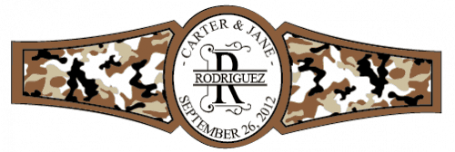 Wedding Cigar Band Template 49