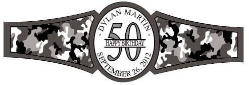 Birthday Cigar Band Template 29