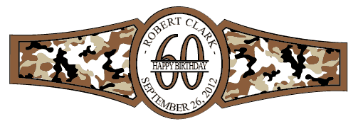 Birthday Cigar Band Template 30