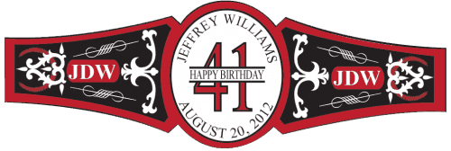 Birthday Cigar Band Template 34
