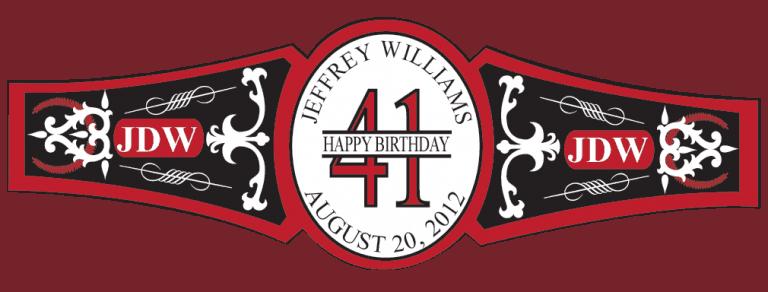 Birthday Cigar Band Template 34
