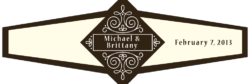 Wedding Cigar Band Template 61