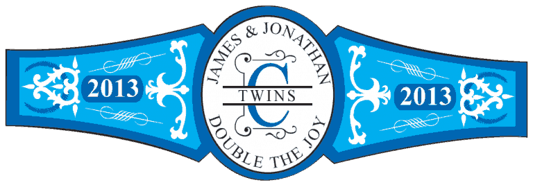 Baby Twins Cigar Band Template 07