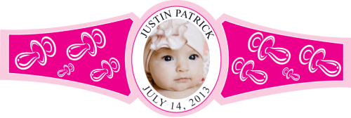 Baby Girl Cigar Band Template 14