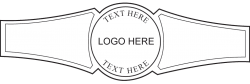 Custom Cigar Band Template 06