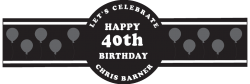 Birthday Cigar Band Template 03