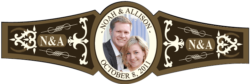 Wedding Cigar Band Template 05