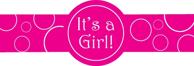 Standard Its a Girl Template