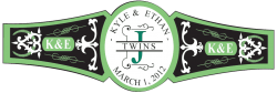 Baby Twins Cigar Band Template 05