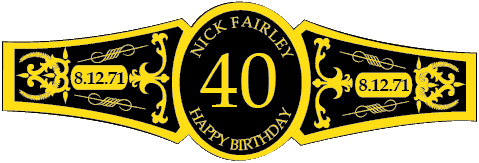 Birthday Cigar Band Template 23