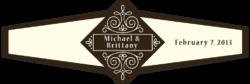 Wedding Cigar Band Template 61