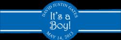 Baby Boy Cigar Band Template 18