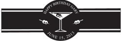 Birthday Cigar Band Template 02